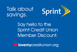 sprint discount love my credit union rewards